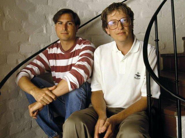 Молодые(и уже успешные) Стив Джобс и Билл Гейтс, начало 90-ых