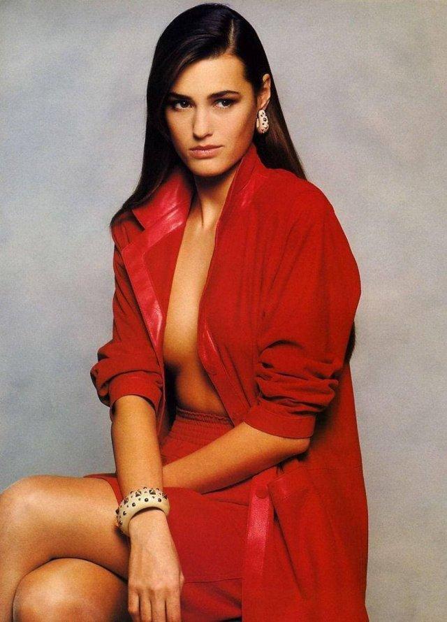 Ясмин Ле Бон - британская модель, 1990 год.