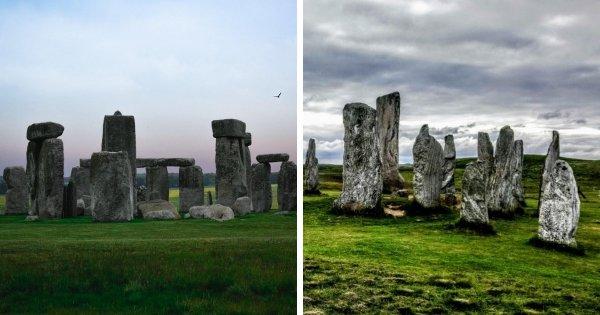 Стоунхендж (Великобритания) и камни Калланиша (Шотландия)
