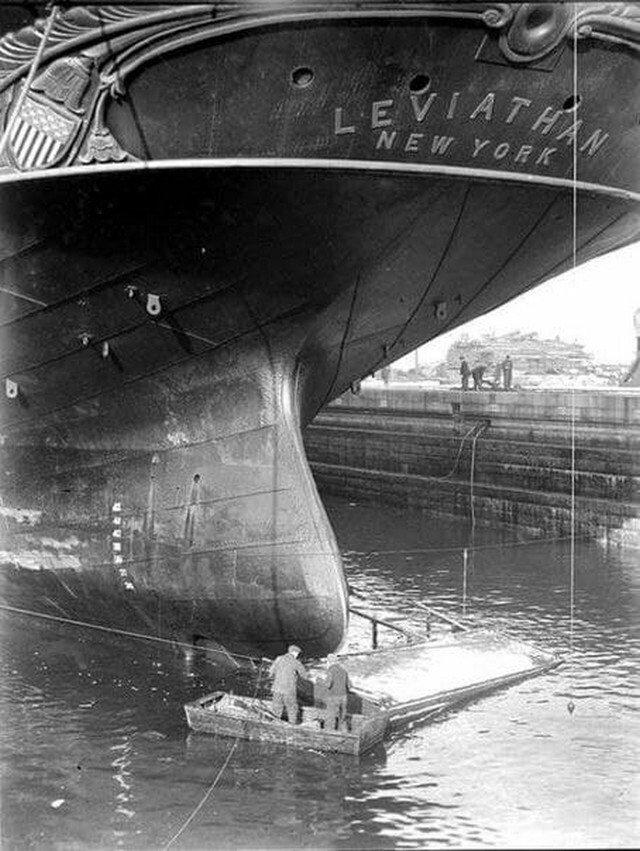 Caмый большой корабль XIX вeка - Лeвиафан, Нью-Йopк, 1859 год.