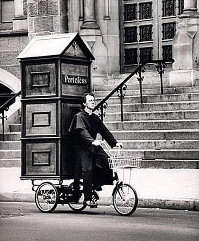 Мобильная исповедь. Предположительно США, 1940-е годы.