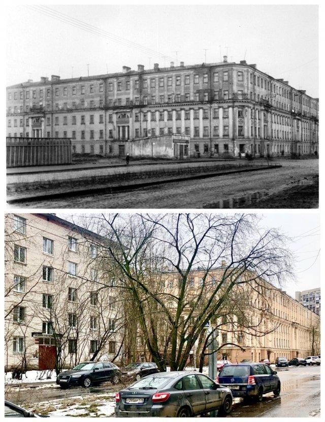 Доходный дом в переулке Каховского, 10.~1956 и 2021 год.