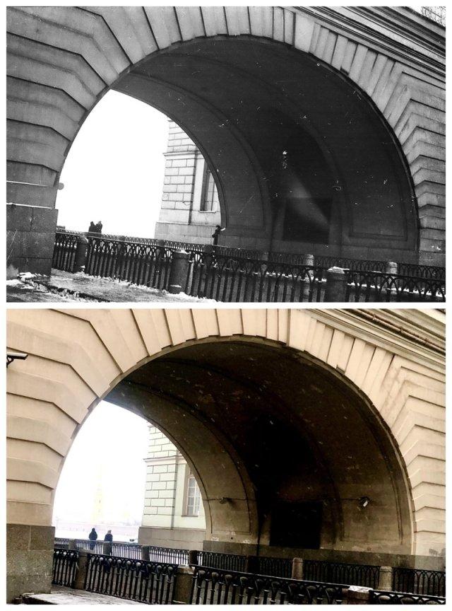 Набережная Зимней канавки.1957 и 2021 год.