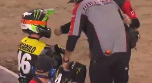 Вправил вывихнутое плечо и продолжил гонку