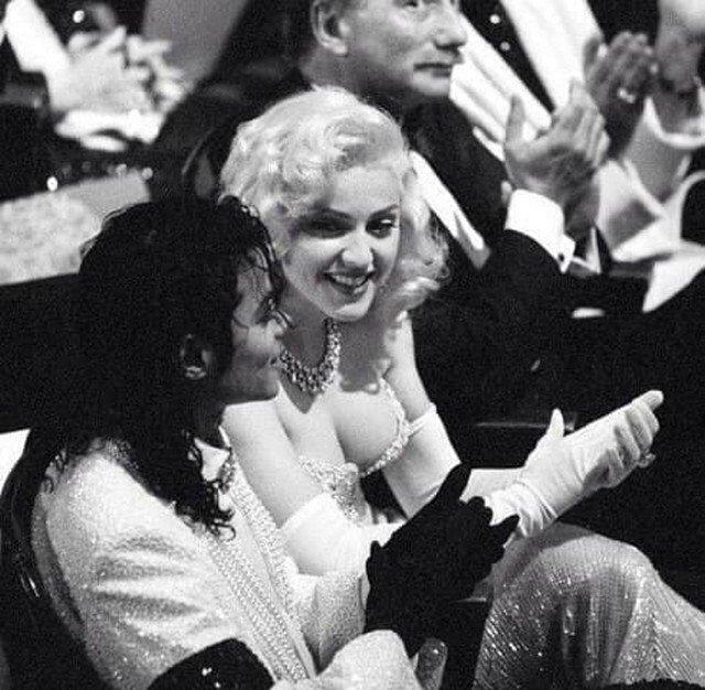 Майкл Джексон и Мадонна на вручении премии Оскар, 1991 г.