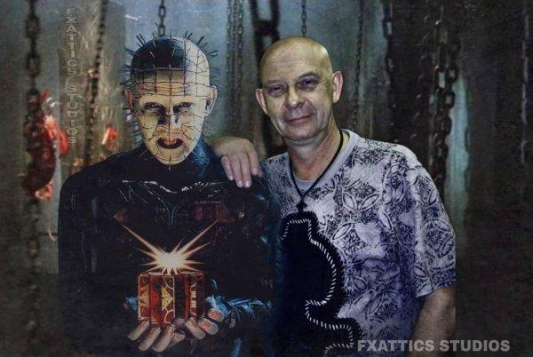 Даг Брэдли и его Пинхед в фильме «Восставший из ада»