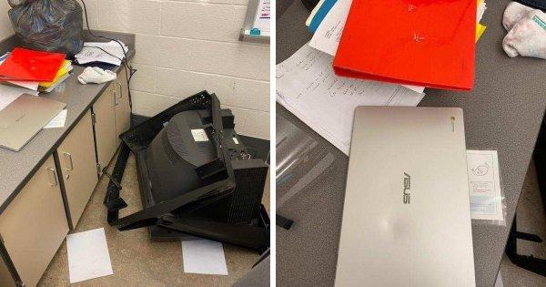 Фиаско 2 в 1: Телевизор решил упасть на ноутбук.