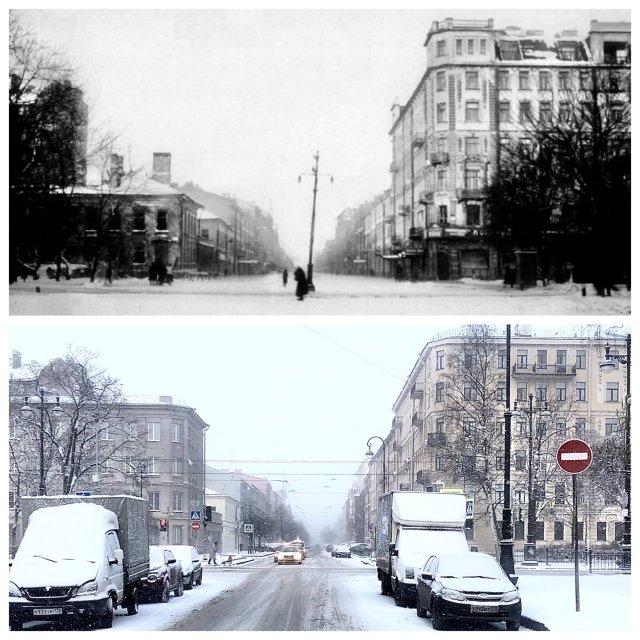 2-я и 3-я линия Васильевского острова.1927 и 2021 год.