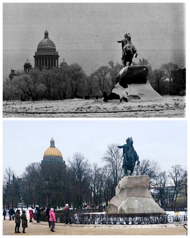 Сенатская площадь.1956 и 2021 год.