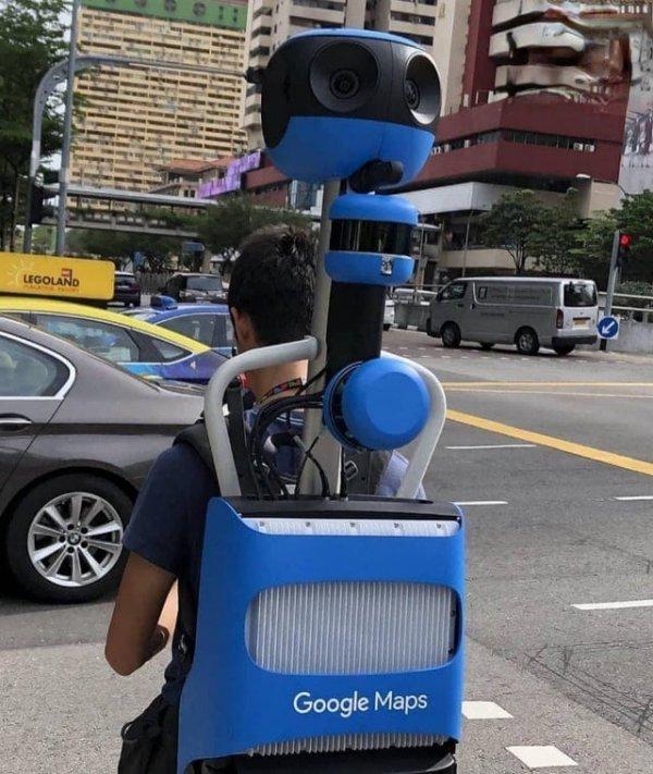 Устройство, которое снимает улицы для Google Maps
