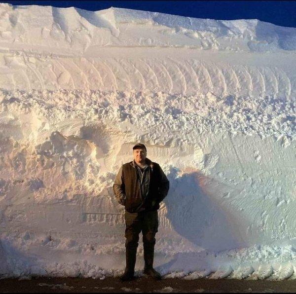 Количество снега, выпавшее в Шотландии