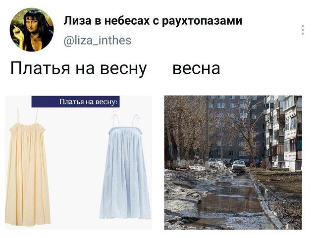 твит про платья