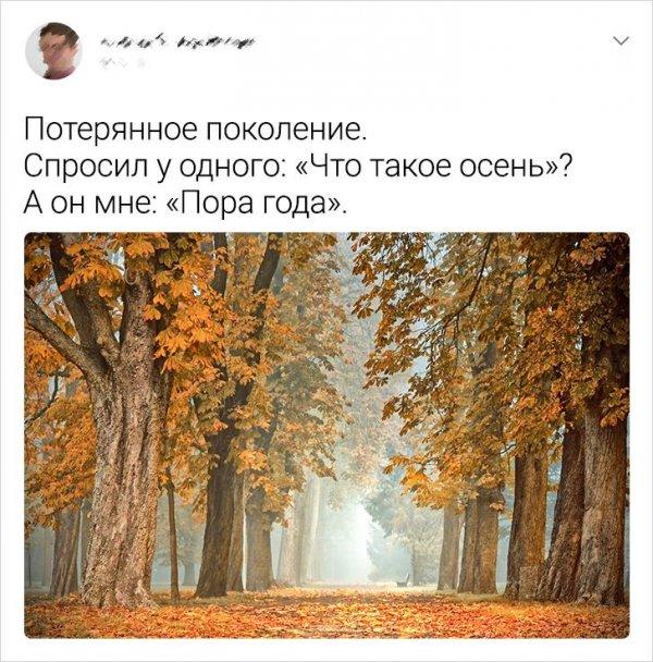 твит про осень