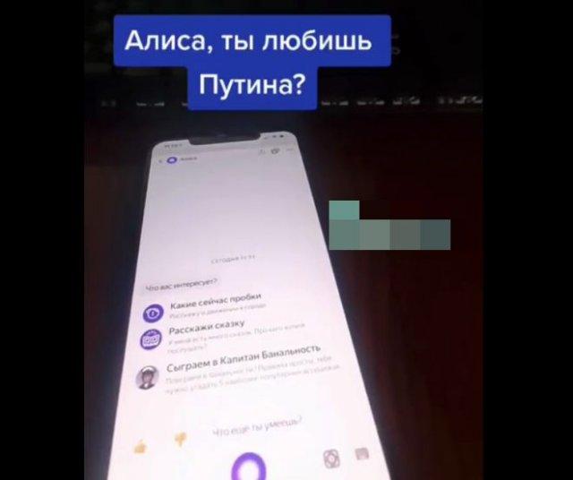 Голосовой помощник про любовь к Владимиру Путину