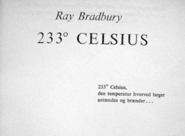 """Как ловко датские переводчики решили проблему названия """"451 градус по Фаренгейту"""" - """"233 градуса по Цельсию"""""""