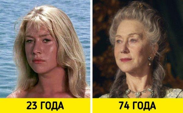 Хелен Миррен — «Совершеннолетие» (1968) и «Екатерина Великая» (2019)