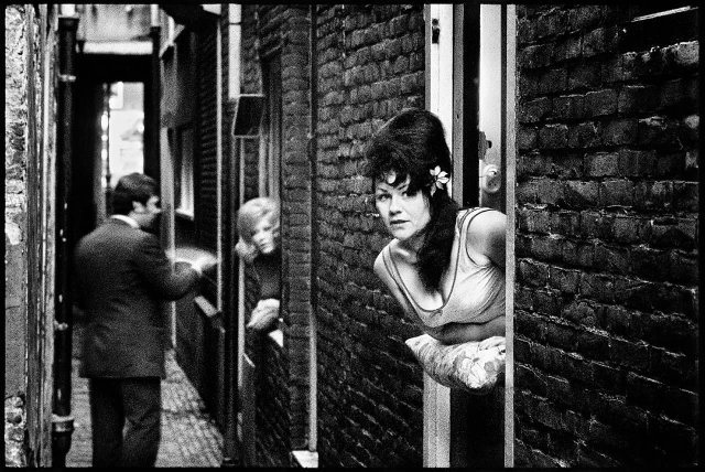 Квартал красных фонарей. Амстердам, 1968 год.