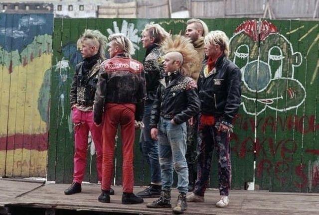 Эстонские панки. Таллин, февраль 1989 года.