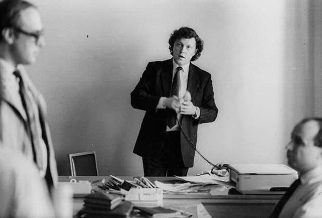 «Русских больше всего не любят не за границей, а в России» - Григорий Явлинский. Фото 1989 года.