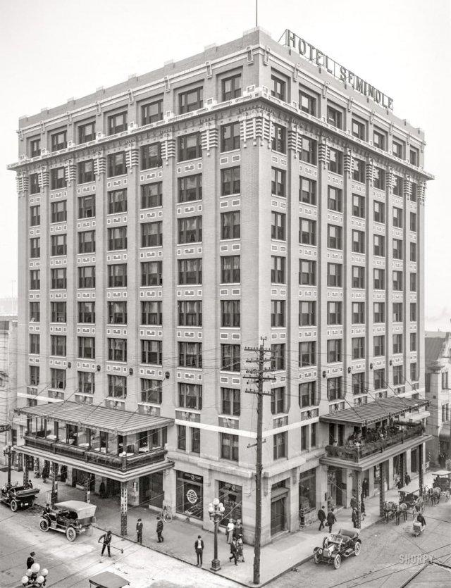 Отель Семинол в Джексонвилле, Флорида, 1910 год.