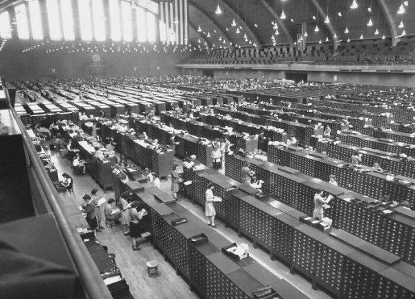 Картотека отпечатков пальцев ФБР, 1944 год