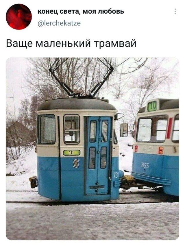 твит про трамвай