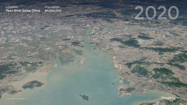 Дельта Жемчужной реки, Китай в 2020
