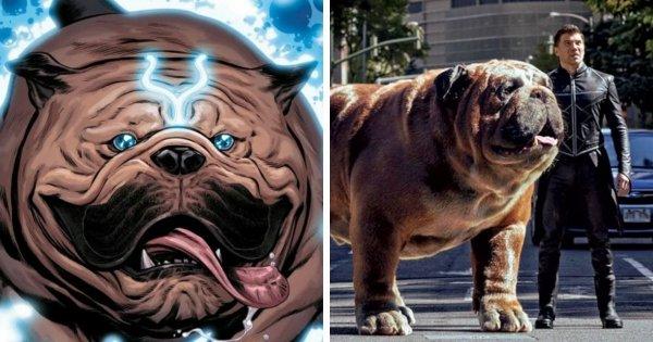 Гигантский бульдог Локджо из комиксов Marvel