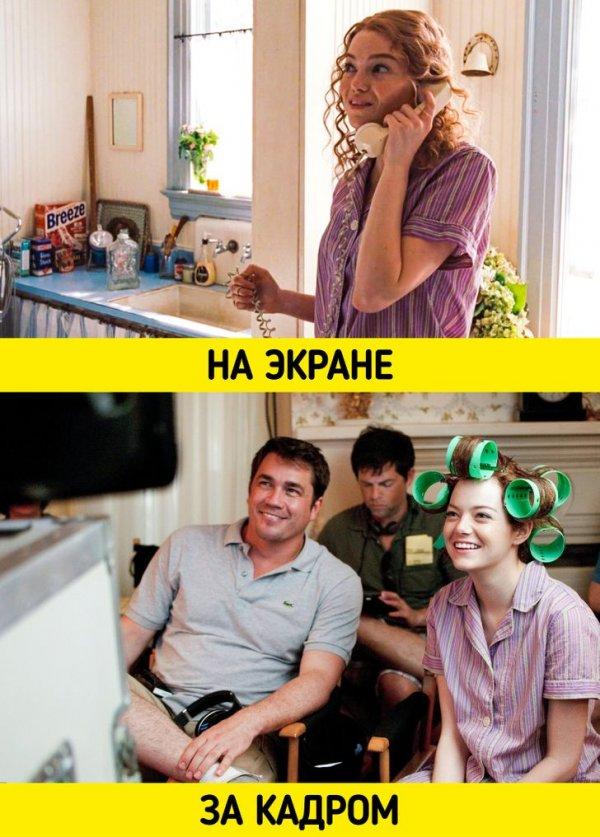 Режиссер Тейт Тейлор и Эмма Стоун готовятся к съемкам драмы «Прислуга» (2011)