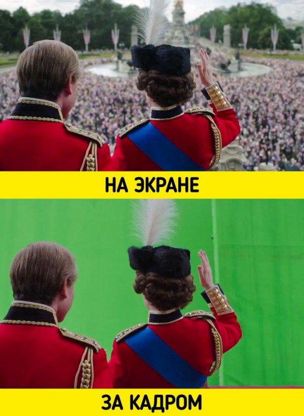 Вот как снималась одна из сцен сериала «Корона» (2016 — настоящее время)