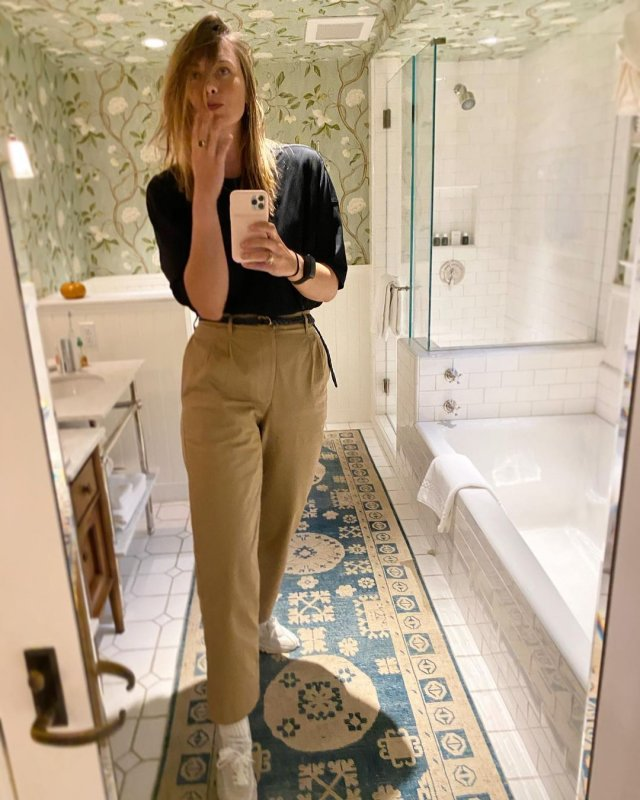 Мария Шарапова в одежде casual