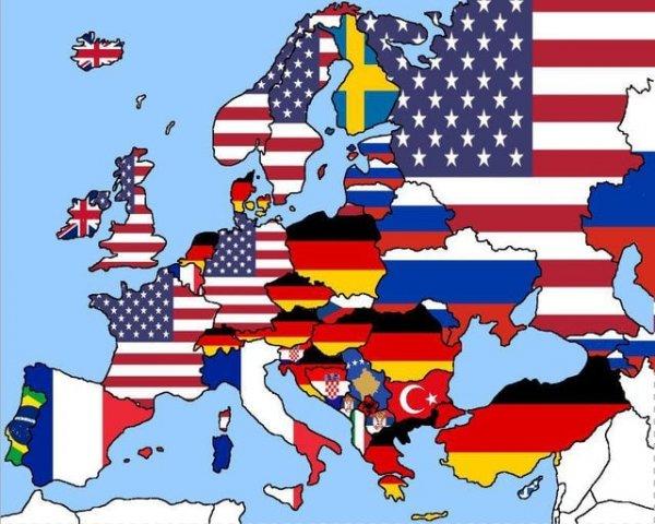 Названия каких стран чаще всего ищут в Google жители разных государств Европы