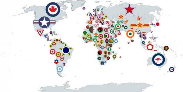 Опознавательные знаки ВВС разных стран
