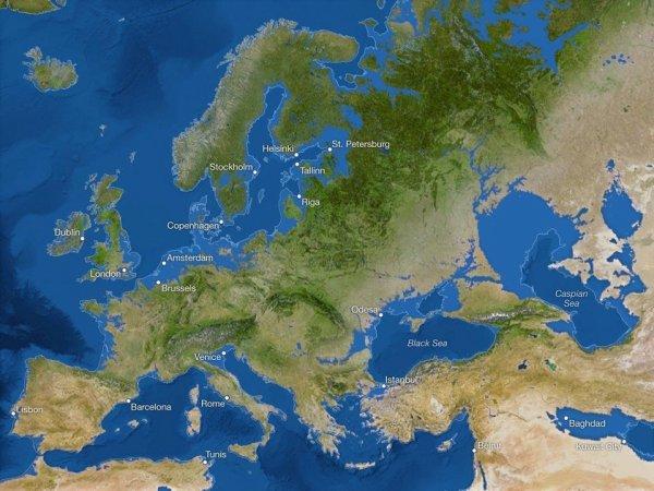 Как выглядел бы мир, если бы все льды растаяли