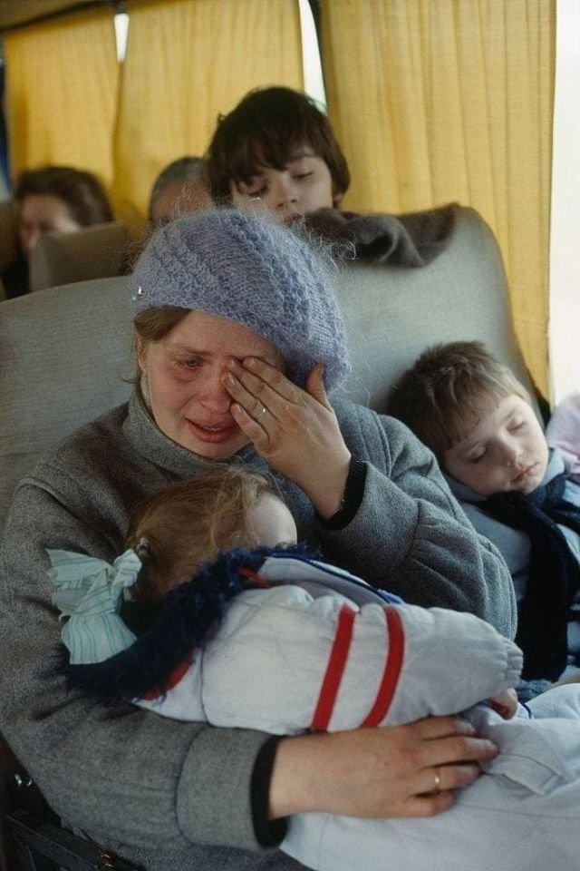 Беженцы покидают Приднестровье, 1992 год.