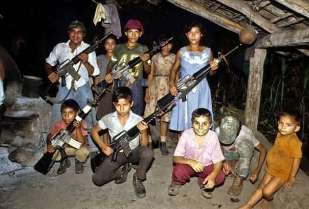Дети-партизаны Сальвадора. 1984 г.