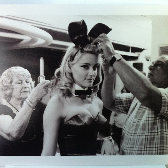 Бывшая Джонни Деппа Эмбер Херд в образе Playboy