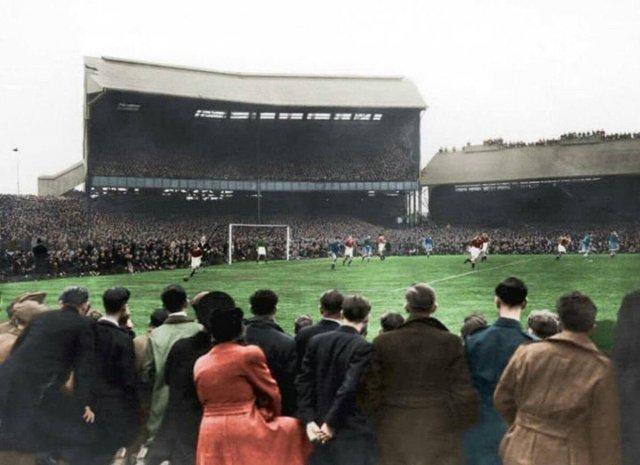 Атмосфера на матче Челси - Динамо Москва, 1945 год.