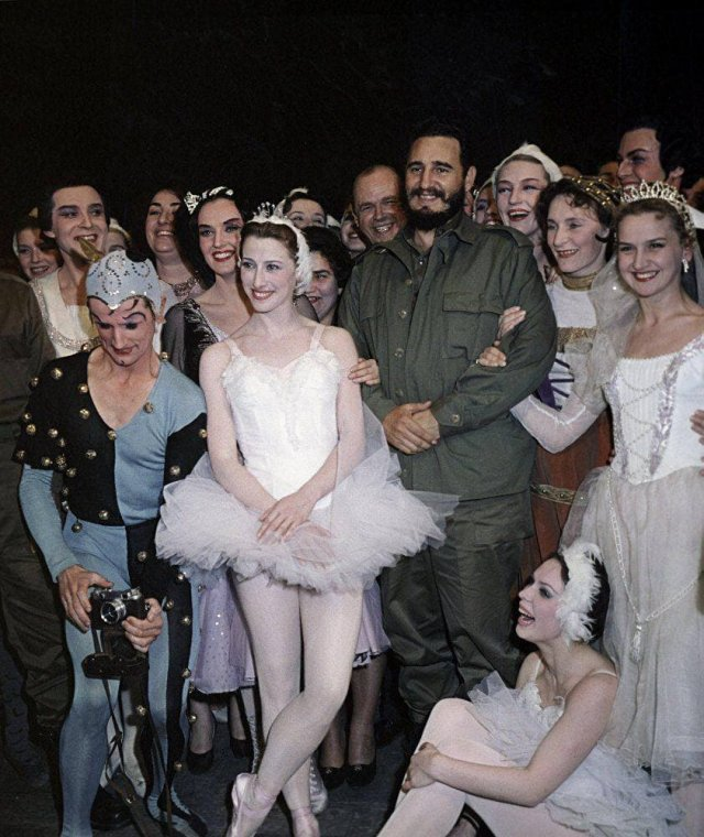 Визит в СССР лидера кубинской революции Фиделя Кастро. Большой театр, 1963 год