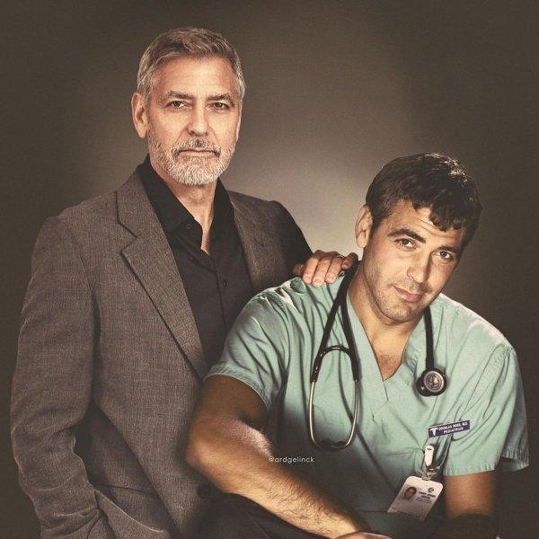 Джордж Клуни и доктор Дуглас Росс