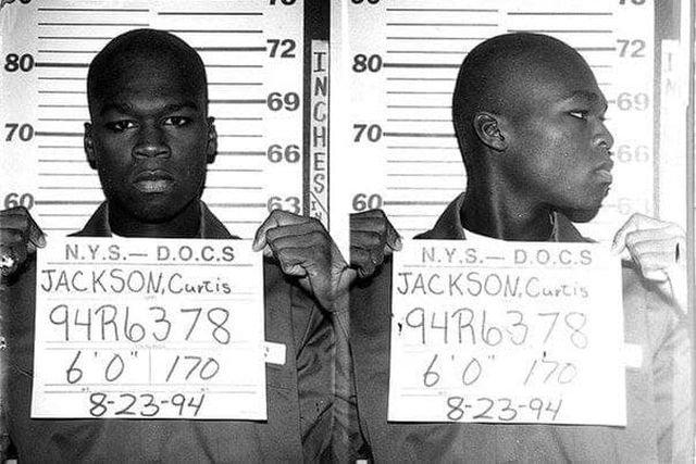 Рэппер 50 Cent, Тогда - 19-летний бандит, осужденный за торговлю наркотиками. 1994 год.