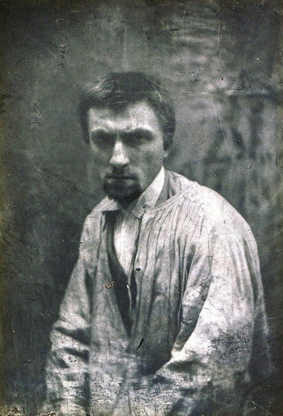 22-летний знаменитый французский скульптор Огюст Роден в 1862 году