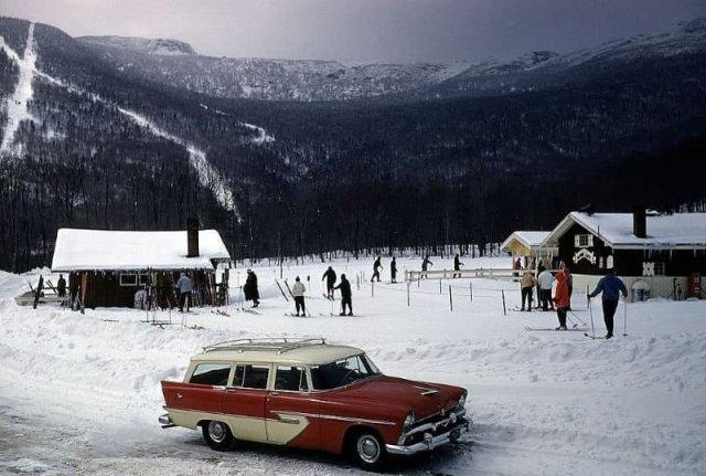 Зима в деревушке Стоу, штат Вермонт, 1956 год.