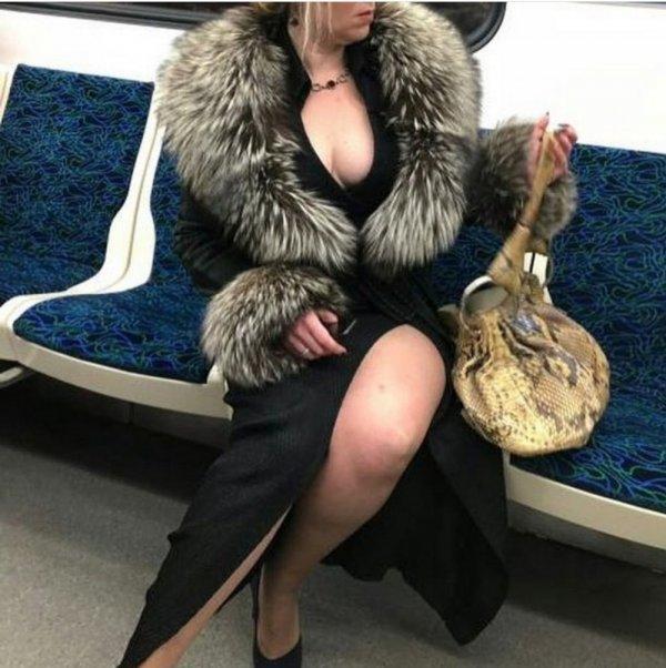 дама в шубе