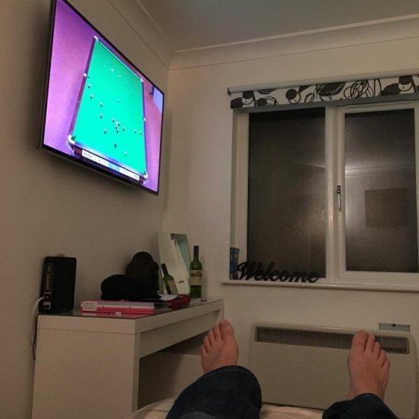 Угол для просмотра телевизора выбран идеально