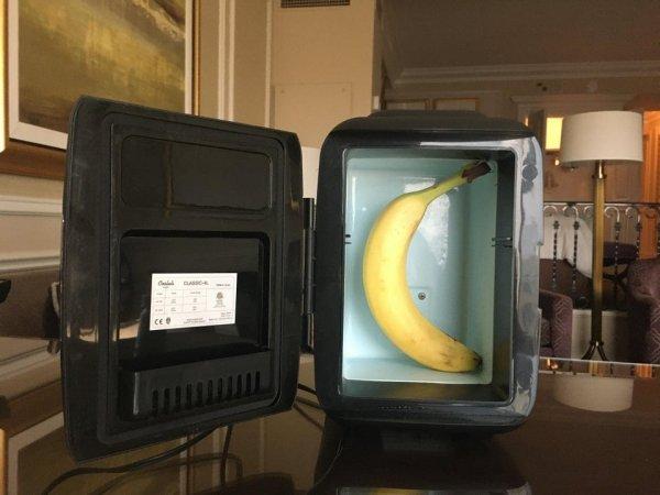 Мы попросили мини-холодильник. Кажется, просьбу восприняли слишком буквально