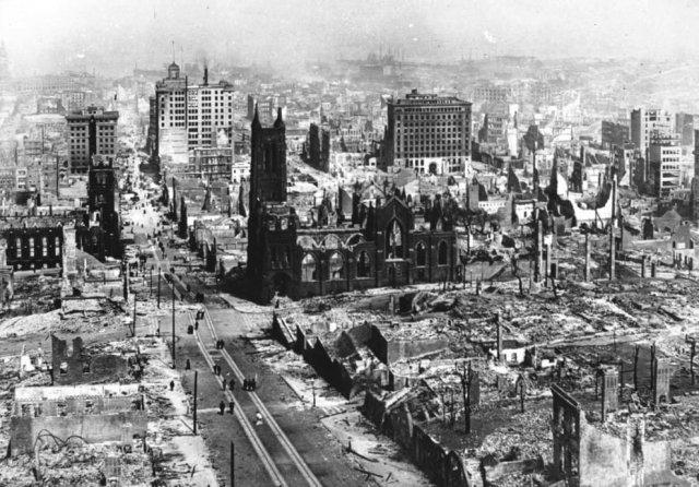 Апрель 1906 – Последствия землетрясения в Сан-Франциско