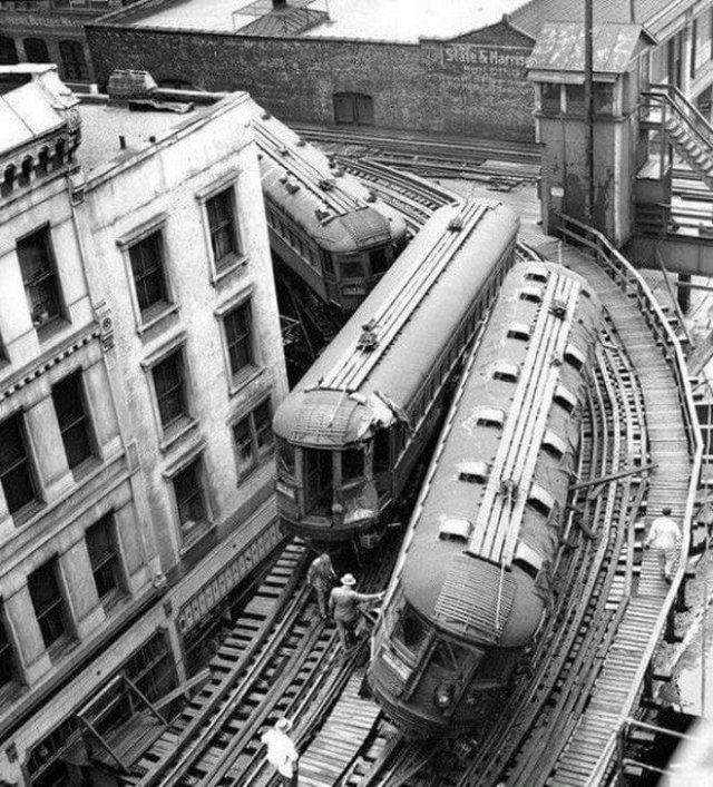 Авария на железной дороге в Чикаго, 24 мая 1953 года.
