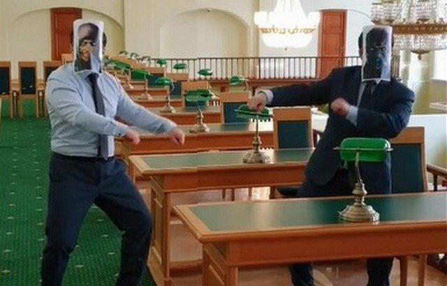 Драка в российской национальной библиотеке