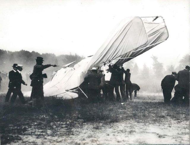 Первая в истории авиакатастрофа с человеческими жертвами, Арлингтон, США, 1908 г.